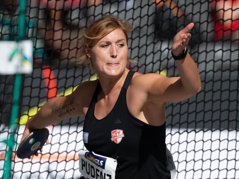 Diskuswurf-Meisterin Kristin Pudenz qualifiziert sich für Brüssel