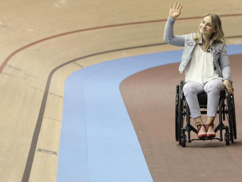 Hat ihren 2013 aufgestellten Bahnrad-Weltrekord über 200 Meter an die Kanadierin Kelsey Mitchell verloren: Kristina Vogel
