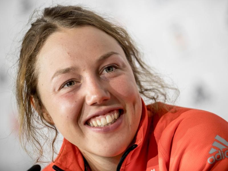 Die ehemalige Biathletin Laura Dahlmeier absolviert eine Trainerausbildung