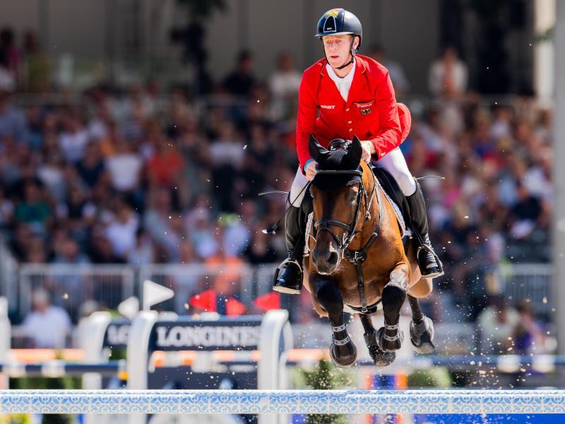 Die deutsche Equipe um Marcus Ehning landete beim Nationenpreis-Finale in Barcelona nur auf Platz sechs. Foto: Rolf Vennenbernd/dpa