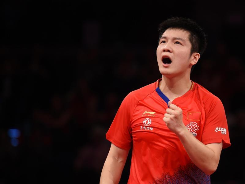 Hat die German Open gewonnen: Der Chinese Fan Zhendong jubelt