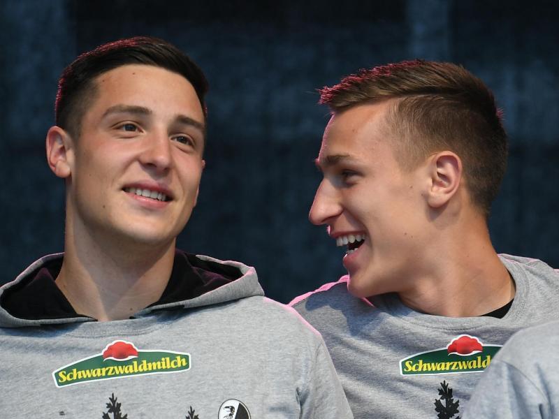 Keven (l) trifft auf seinen Bruder Nico Schlotterbeck