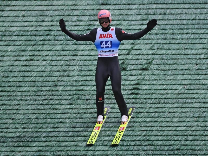 Der Skispringer Karl Geiger gewinnt die nationale Meisterschaft