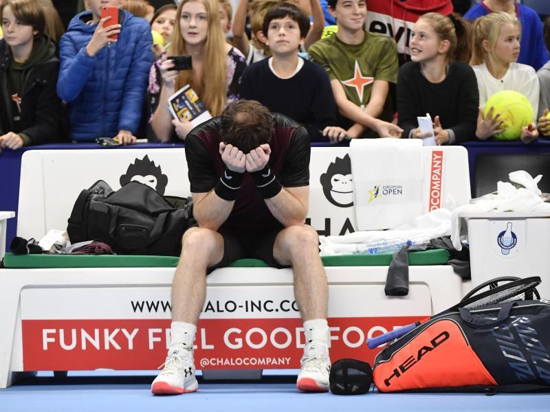 Andy Murray vergoss nach seinem Turniersieg in Antwerpen Freudentränen