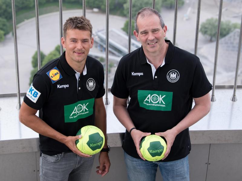Testen gemeinsam in einer Halle: Christian Prokop (l.) und Henk Groener