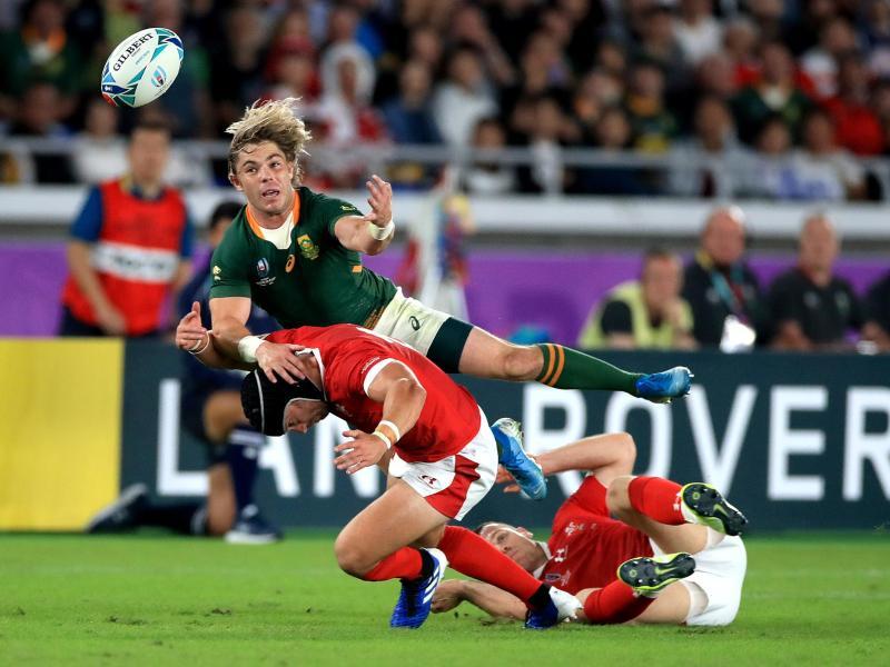 Südafrika setzte sich in einem Halbfinal-Thriller gegen Wales durch