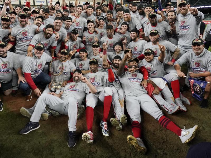 Die Washington Nationals haben zum ersten Mal in der Vereinsgeschichte die Meisterschaft in der nordamerikanischen Baseball-Liga MLB gewonnen