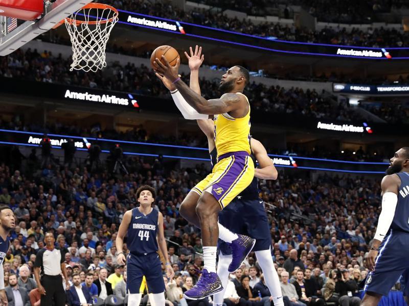 Überragte beim Lakers-Sieg in Dallas: LeBron James