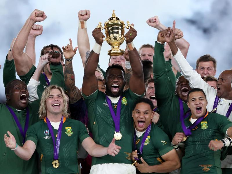 Südafrika gewann die Rugby-WM