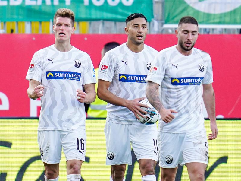 Sandhausen setzte sich mit 3:2 gegen Fürth durch