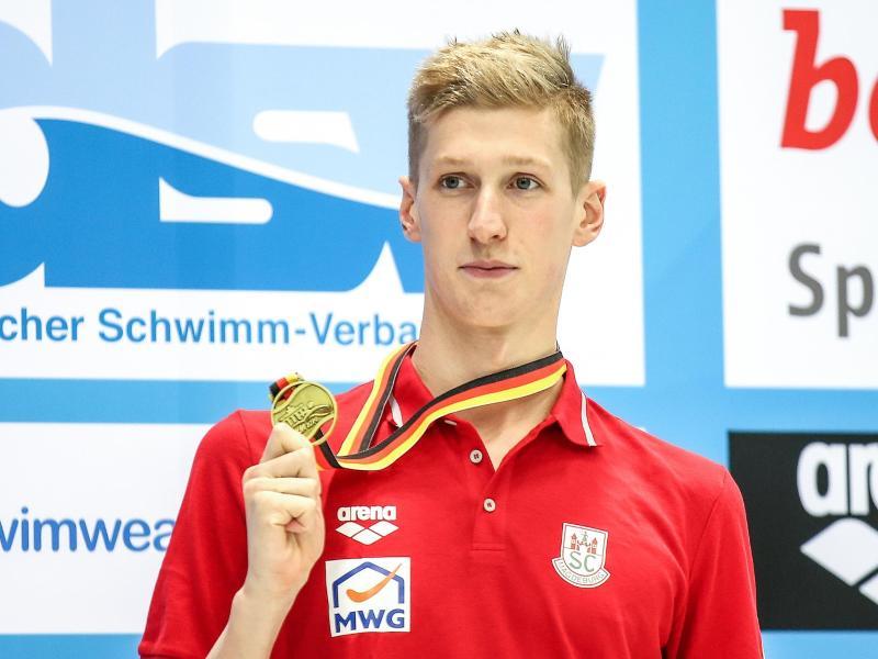 Florian Wellbrock hat zum Abschluss der deutschen Kurzbahn-Meisterschaften seinen dritten Titel gewonnen