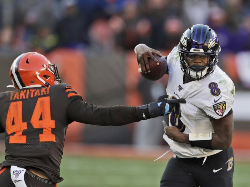 Führte die Baltimore Ravens zum Sieg Quarterback Lamar Jackson