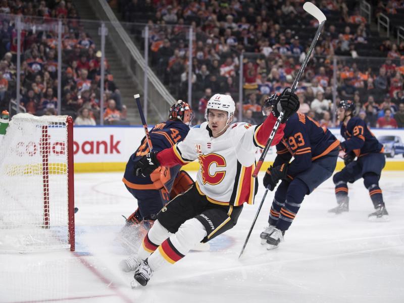 Die Calgary Flames setzten sich gegen die Edmonton Oilers durch