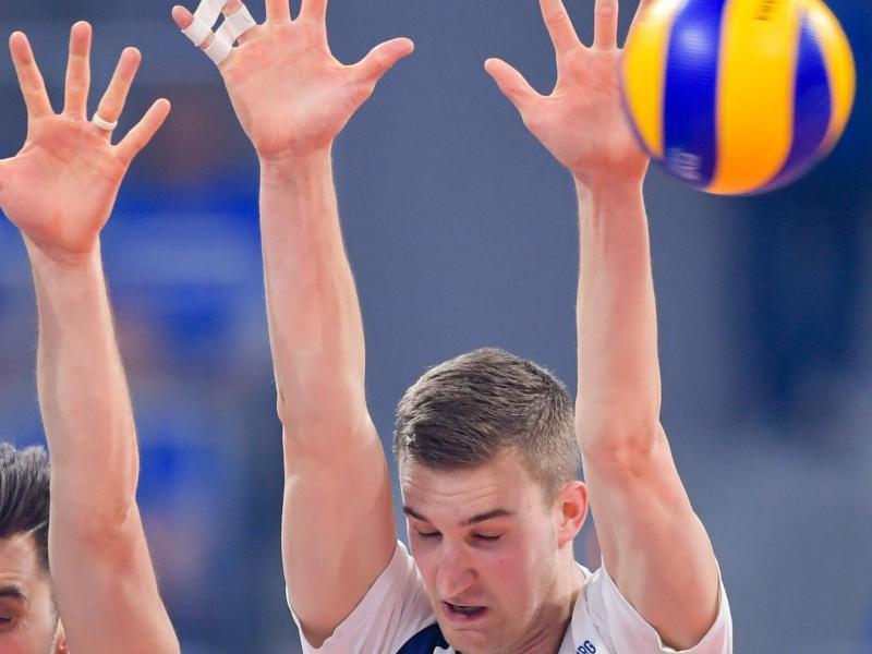 Wurde aus dem DVV-Kader für die Olympia-Qualifikation gestrichen: Noah Baxpöhler. Foto: Uwe Anspach/dpa