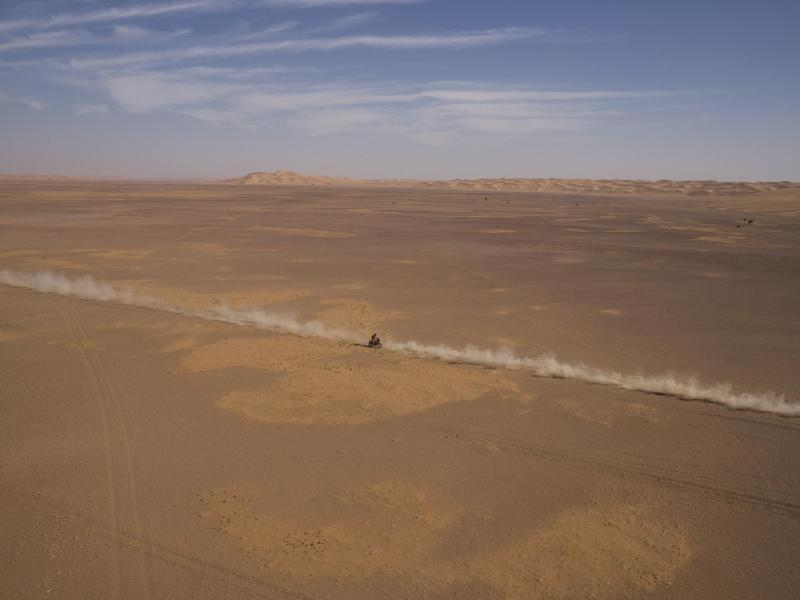 Bei der Rallye Dakar hat es einen weiteren schweren Motorradunfall gegeben.