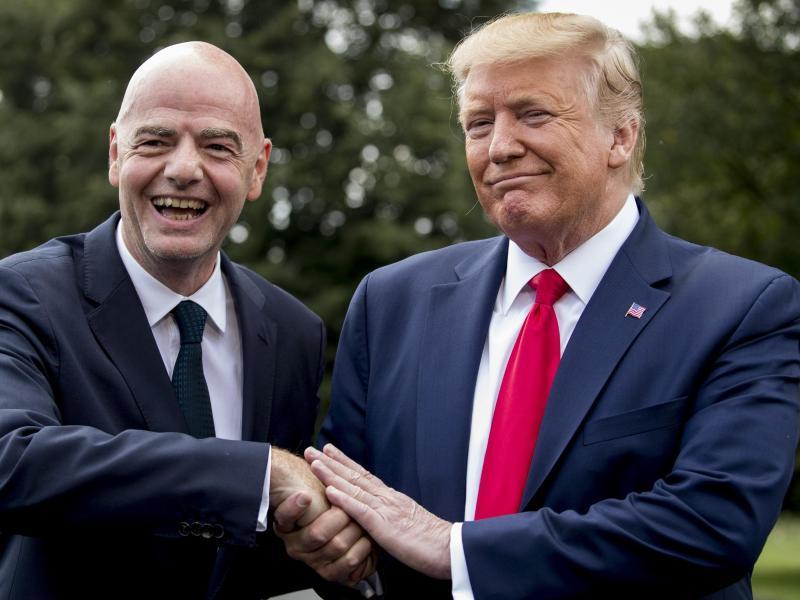 Verstehen sich:FIFA-Boss Gianni Infantino (l.) und US-Präsident Donald Trump