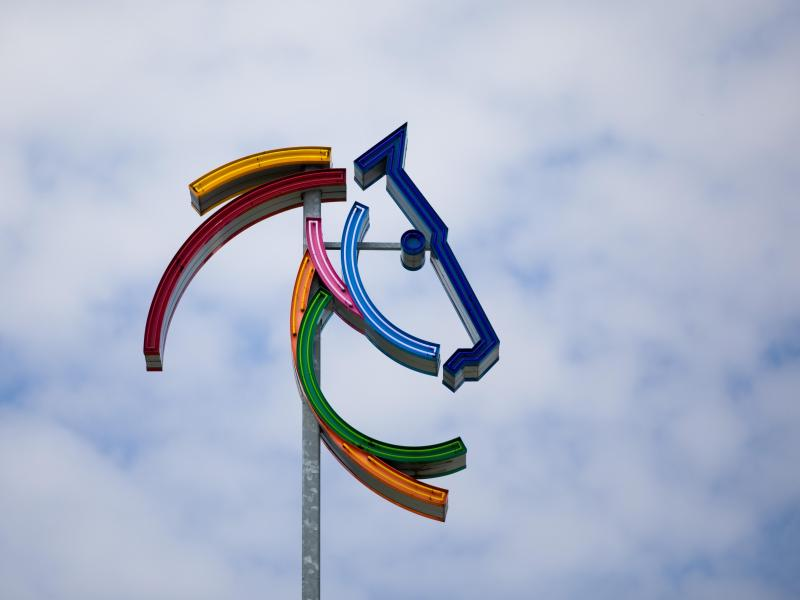 Logo des CHIO in Aachen. Der Wettbewerb findet vom 2. bis zum 7. Juni statt