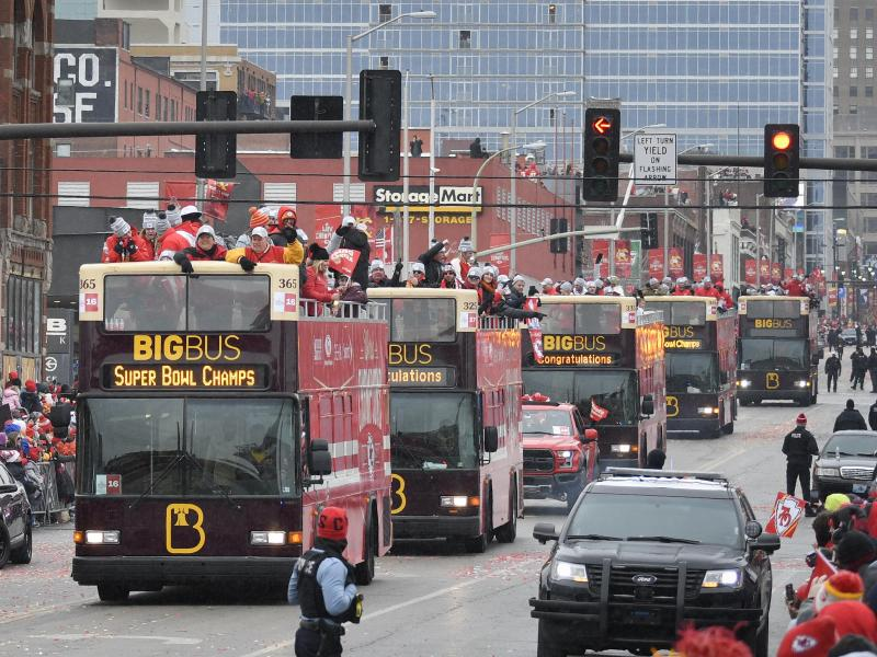 Kansas City hat seine Super-Bowl-Helden mit einer großen Party geehrt