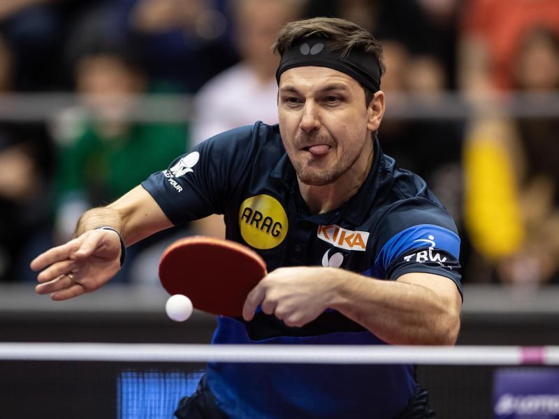 Der Tischtennis-Spieler Timo Boll hat das erste Spiel beim Top-16-Turnier für sich entschieden