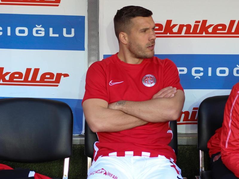 Lukas Podolski wurde beim Debüt für Antalyaspor erst spät eingewechselt