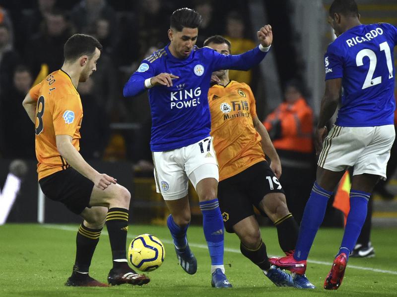 Wolverhampton Wanderers und Leicester City teilten sich am 26. Premier-League-Spieltag die Punkte. Foto: Rui Vieira/AP/dpa