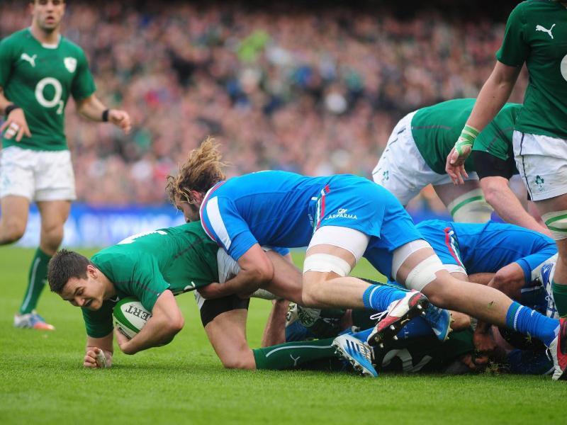 Die Six-Nations-Partie Irlands in Italien wurde abgesagt und soll zu einem späteren Termin nachgeholt werden. Foto: Barry Cronin/EPA/dpa