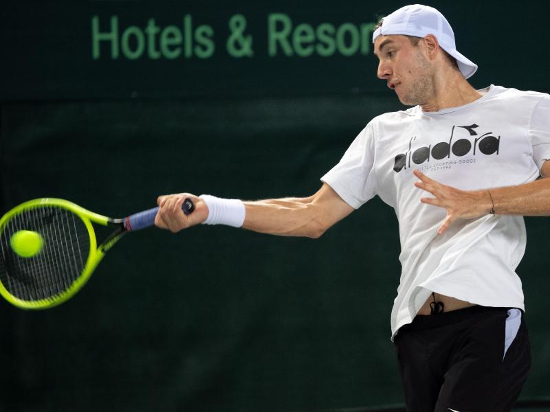 Spielt das erste Einzel in der Davis-Cup-Partie gegen Weißrussland: Jan-Lennard Struff