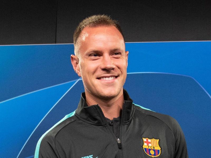 Hält sich daheim fit: Barça-Keeper Marc-André ter Stegen. Foto: Bernd Thissen/dpa