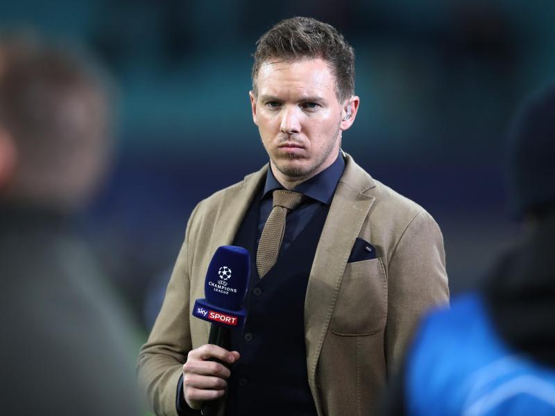 Leipzigs Trainer Julian Nagelsmann glaubt an eine Fortsetzung der Saison - wenn auch spät