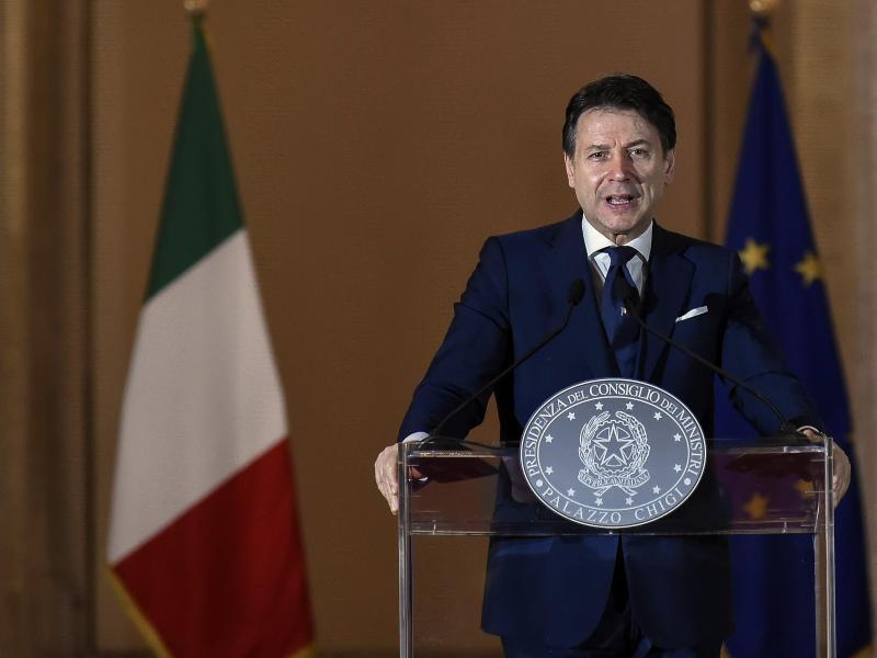Ministerpräsident Giuseppe Conte dämpfte die Hoffnungen in Italien