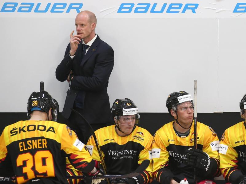 Trainer Toni Söderholm und die deutsche Eishockey-Nationalmannschaft spielen bei der WM 2021 in Riga