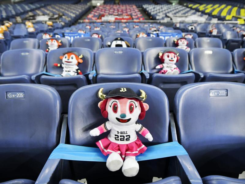 Auch beim Baseballspiel der Orix Buffaloes gegen die Rakuten Eagles waren keine Fans zugelassen