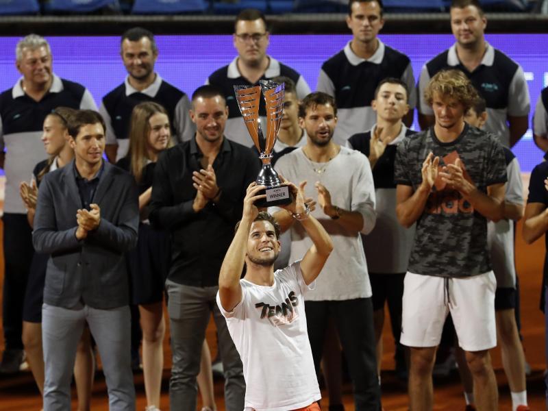 Sieg mit Nachgeschmack: Dominic Thiem (M.) beim Adria-Cup