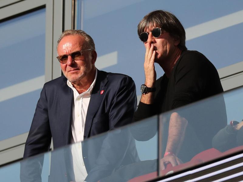Karl-Heinz Rummenigge (l.) und Joachim Löw