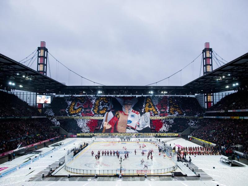 Freiluftspiel der DEL im Januar 2019 in Köln mit fast 50.000 Zuschauern