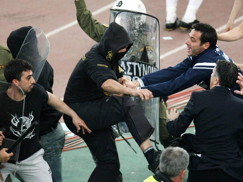 In Griechenland sind gewaltsame Auseinandersetzungen zwischen Fan-Gruppen ein stetiges Problem