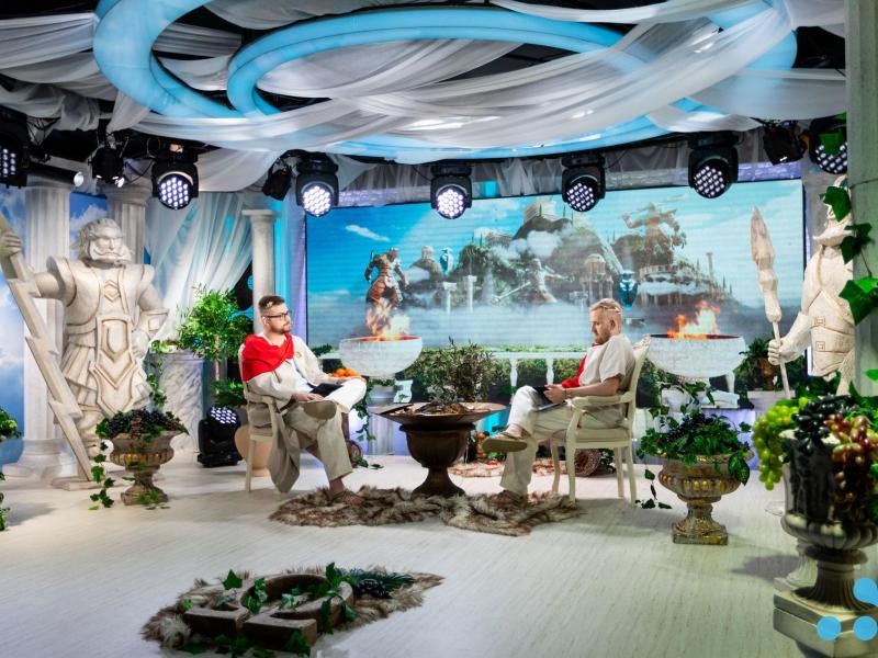 Das WePlay!-Studio in Kiev zu Beginn der Qualifikationsspiele der Dota 2 Omega League. Foto: WePlay!/dpa