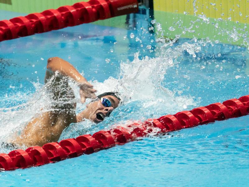 Schwamm einen neuen Europarekord über 1500 Meter Freistil: Gregorio Paltrinieri