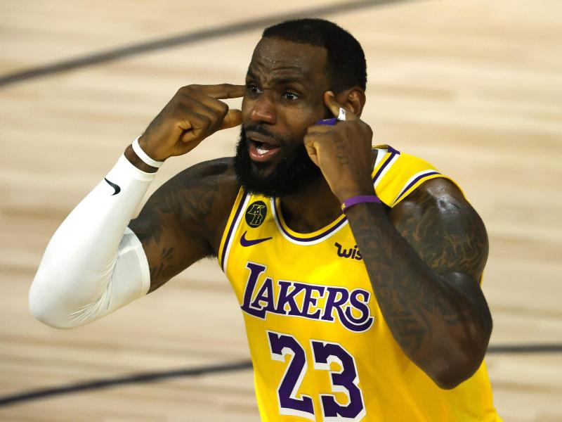 Superstar LeBron James von den LA Lakers