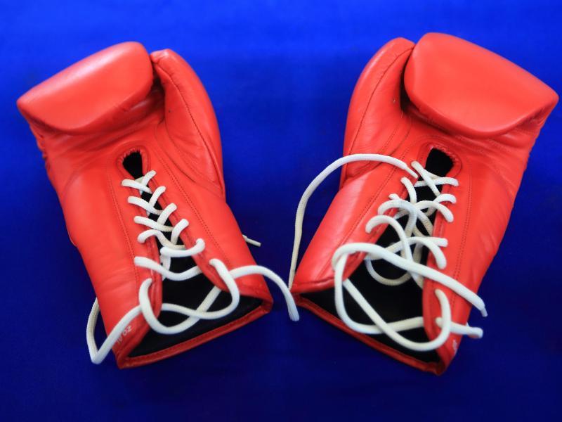 Box-Handschuhe, das Arbeitszeug der Faustkämpfer
