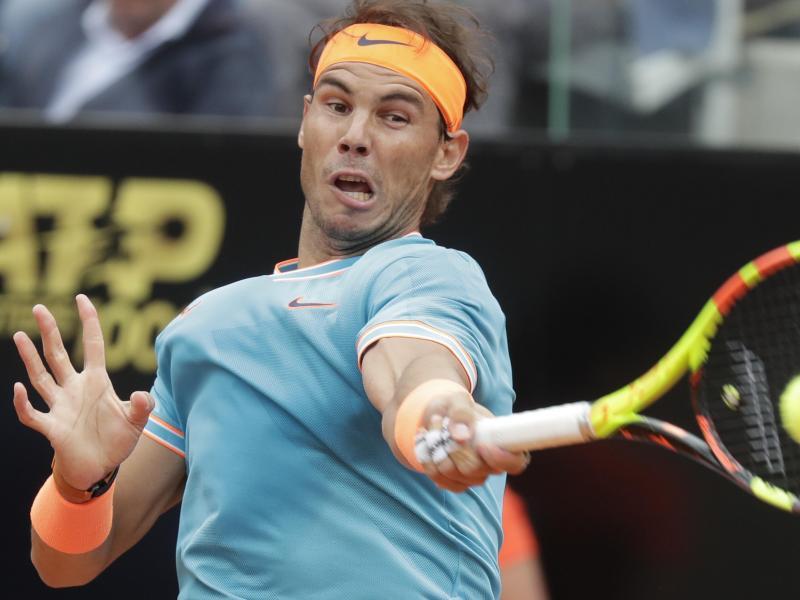Rafael Nadal setzte sich in seinem Auftaktmatch in Rom locker durch