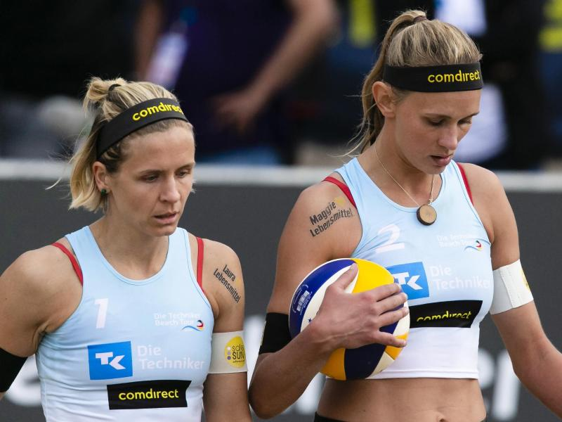 Laura Ludwig und Margareta Kozuch bekommen es im Viertelfinale mit dem Schweizer Duo Joana Heidrich und Anouk Vergé-Dépré zu tun
