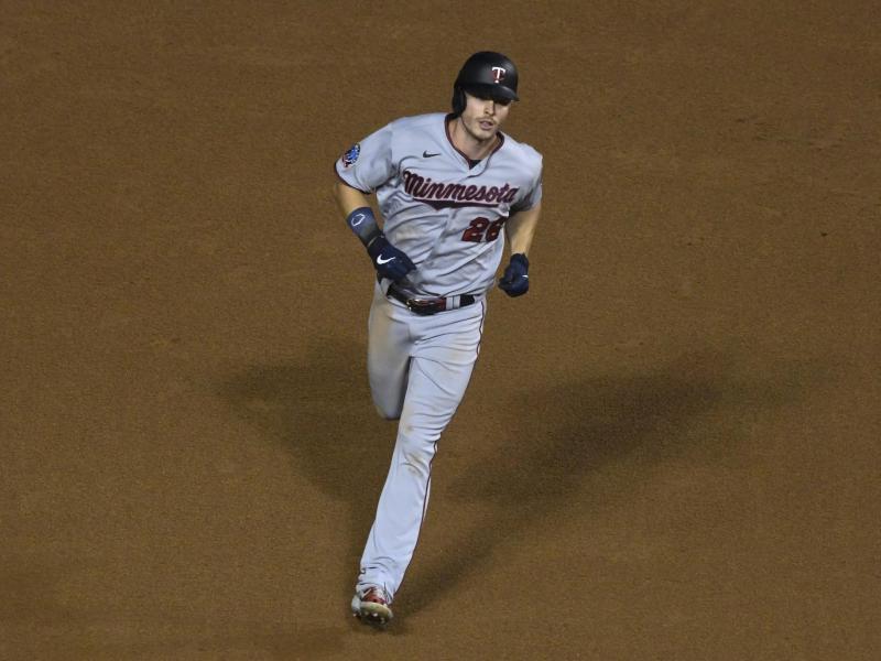 Tolle Marke gesetzt:Der Deutsche Max Kepler von den Minnesota Twins gelingt der 100. Homerun seiner Karriere. Foto: Matt Marton/AP/dpa