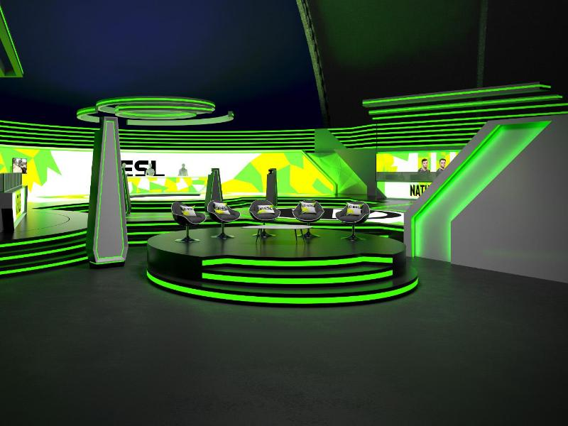 So soll das Studio für die künftigen CS:GO-Events, die nicht in Arenen stattfinden, aussehen