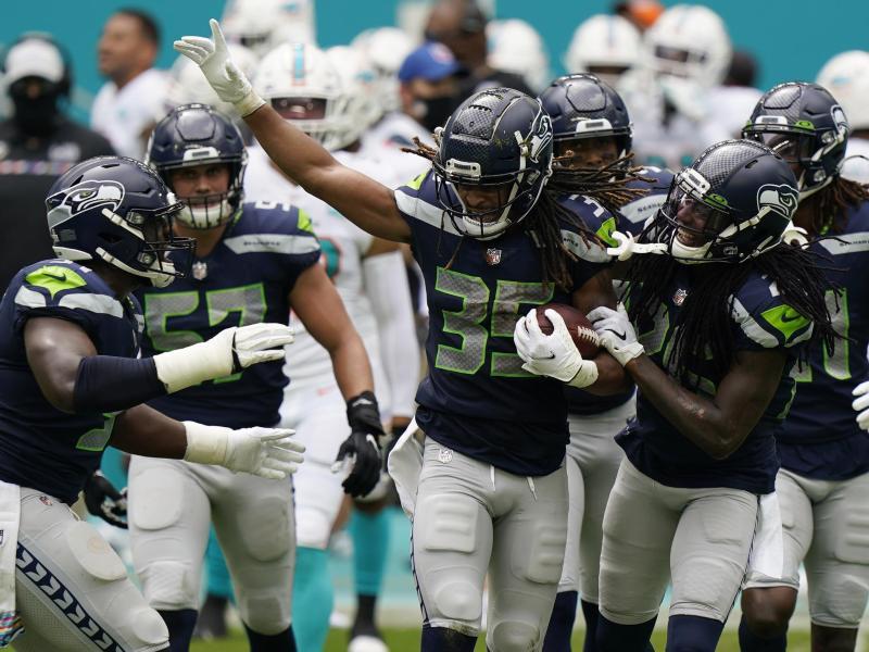 Die Seattle Seahawks bleiben in der NFL ungeschlagen