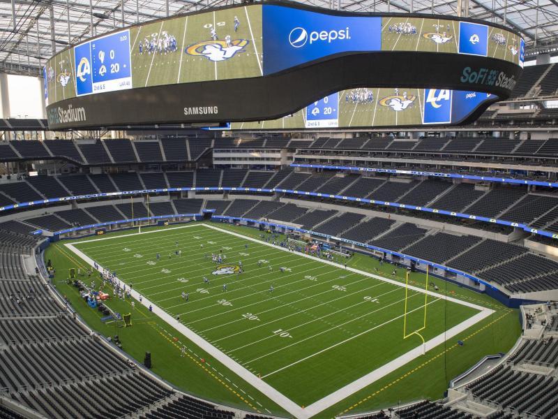 Das Stadion der Los Angeles Rams wird zum Wahllokal