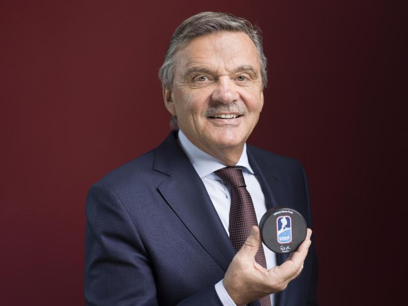 Rene Fasel, Präsident der Internationalen Eishockey-Föderation IIHF
