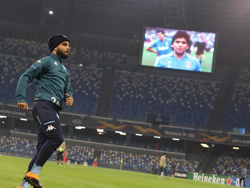 Das Europa-League-Spiel des SSC Neapel stand ganz im Zeichen des Gedenkens an Diego Maradona