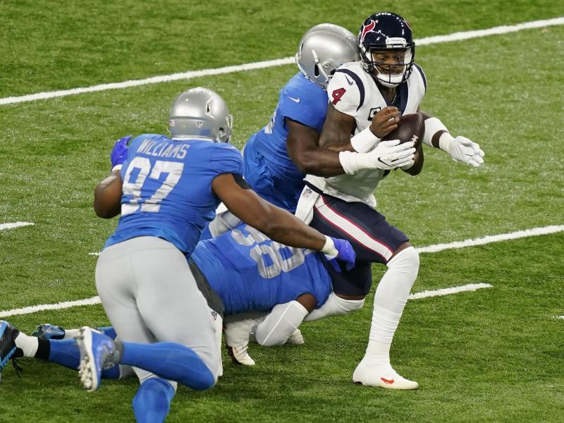 Deshaun Watson und die Texans gewannen gegen Detroit