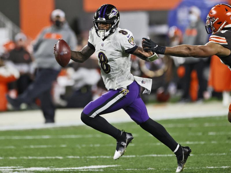 Baltimores Quarterback Lamar Jackson führte sein Team zum Sieg